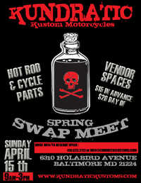Kundratic Motorcycles Spring Swap Meet