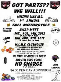 Mlmc Fall Motorcycle Swap Meet