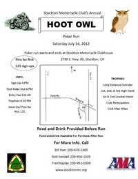 Hoot Owl Poker Run