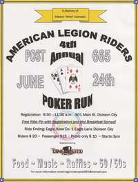 American Legion Riders Poker Run - 4th Annual