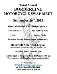 Borderline Motorcycle Swap Meet