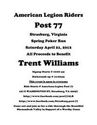 Trent Williams Poker Run