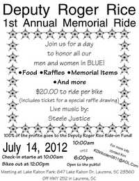 Deputy Roger Rice Memorial Ride