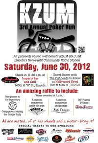 Lincoln Poker Run and Fundraiser - 3rd Annual