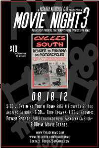 Pasadena Motorcycle Club Movie Night
