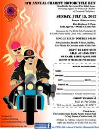Pawtucket Fire Relief Assoc Motorcycle Run - 6th Annual