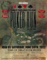 Cowley Tiger Booster Club Poker Run - 3rd Annual