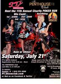 Pts And Penthouse Charity Poker Run - 11th Annual