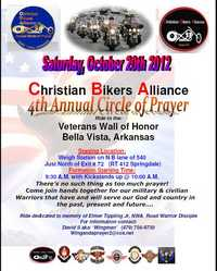 Christian Bikers Alliance Circle Of Prayer Ride - 4th Annual