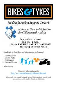 Bikes and Tykes Autism Party