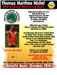 Matt Michel Memorial Ride For Camp Avery - 3rd Annual