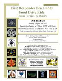 Responder Bea Gaddy Food Drive Ride