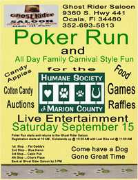 Marion County Humane Society Poker Run And Carnival