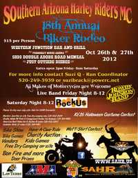 Southern Arizona Harley Riders Mc Biker Rodeo - 18th Annual