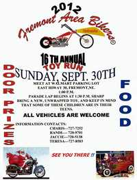 Fremont Area Bikers Toy Run - 16th Annual