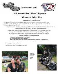 Slider Memorial Poker Run - 3rd Annual