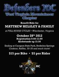 Matt Helsley Benefit Ride