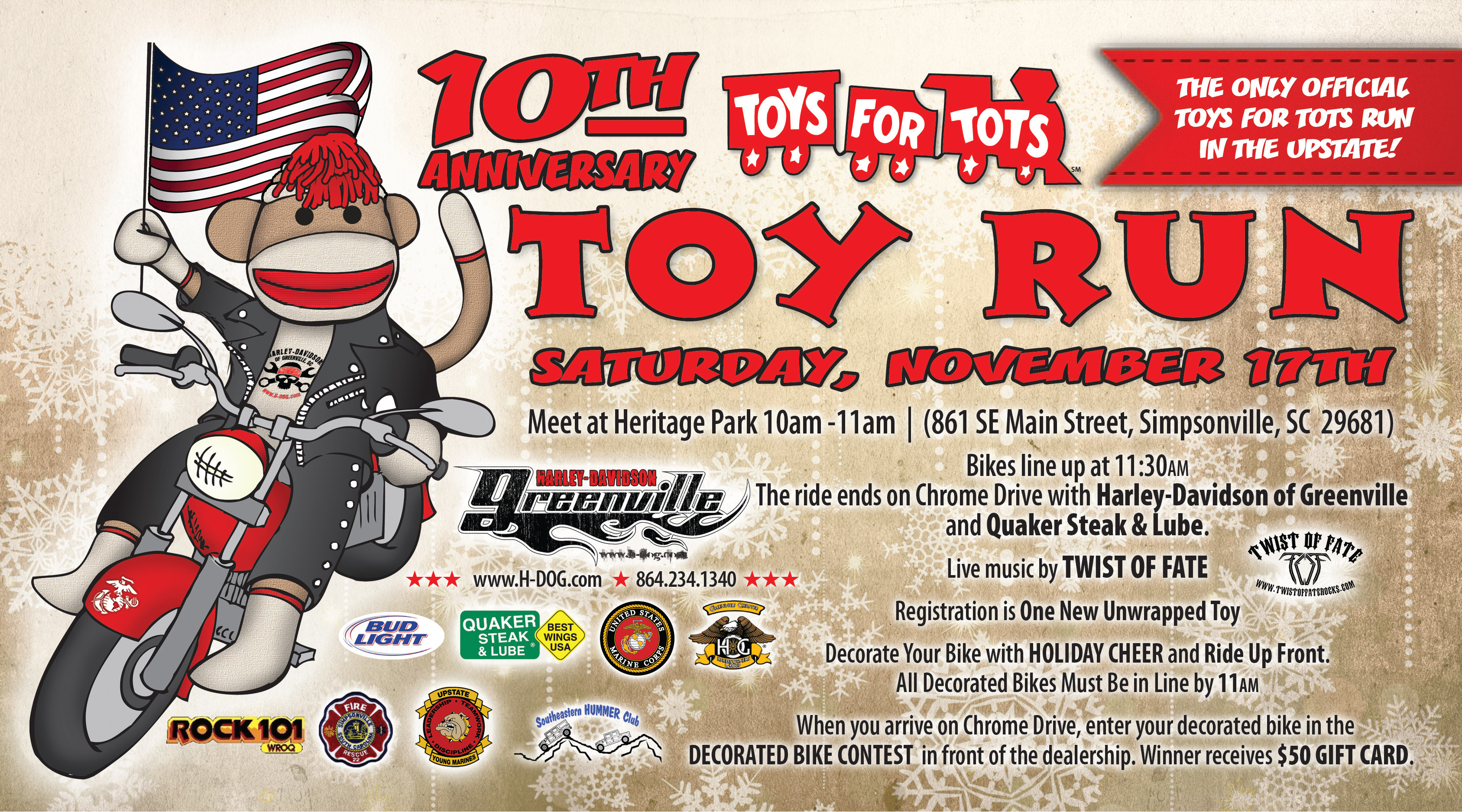 Motorcycles Presiodent Toys For Tots : Motorcycle run toys for tots toy south carolina