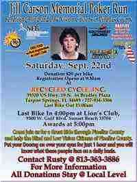 JILL CARSON MEMORIAL POKER RUN to Benefit Blind Citizens of Pinellas County