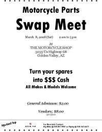 Motorcycle Parts Swap Meet - 2nd Annual