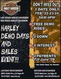 Harley Demo Days At Red Rock Harley-davidson