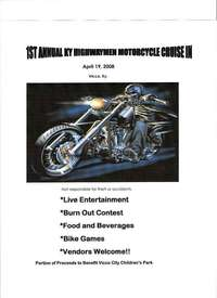Somerset Chapter Of Kentucky Highwaymen Motorcycle Crusie In