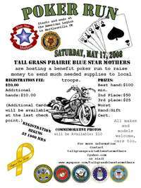 Tall Grass Prairie Blue Star Mothers Poker Run