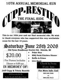 Cupp Restifo 10th Memorial Ride