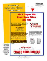 Power House Riders Dixie Crossroads Ride 2008-07-13