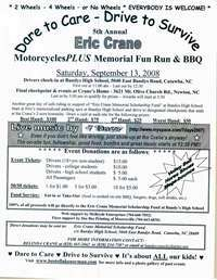 Eric Crane Motorcycles Plus Memorial Fun Run and BBQ - 5th Annual