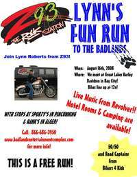Z93 Lynns Fun Run And Bikers 4 Kids Mebership Drive