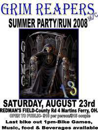 Grim Reapers Summer Party and Poker Run