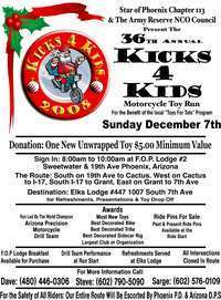 Kicks 4 Kids Toy Run - 36th Annual