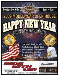 Happy New Year Harley Davidson 2009 Model Open House