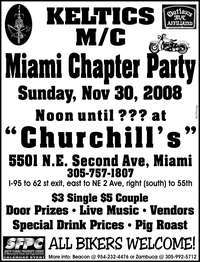 Keltics MC Miami Chapter Party