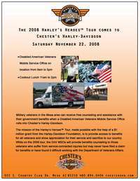 Harleys Heroes Tour Comes To Chesters Harley Davidson