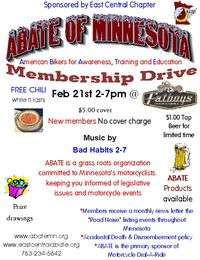 Abate Of Minnesota Membership Drive