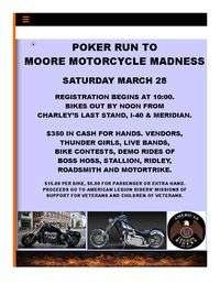March Motorcycle Madness Poker Run