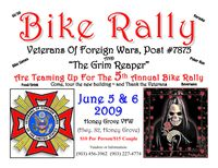 Honey Grove VFW And Grim Reapers Bike Rally - 5th Annual