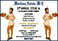 Martinez Saints MC Steak And All You Can Eat Speghetti Dinner