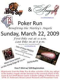 Poker Run Benefiting The Harleys Angels