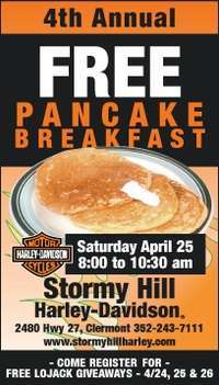 Free Pancakes At Stormy Hill