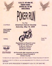 Abate Of Ohio Clinton County Cancer Poker Run