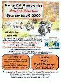 Harley Kj Monderewicz Memorial Bike Run