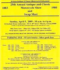 Antique And Classic Motorcycle Show And Swap Meet - 25th Annual
