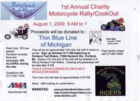 Charity Motorcycle Rally And Cookout