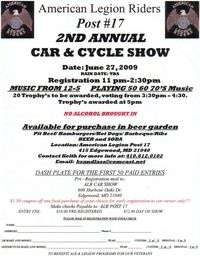 American Legion Riders Car and Cycle Show