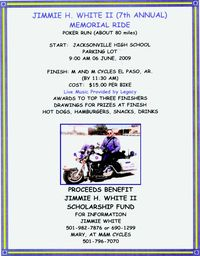 Jimmie H White Memorial Poker Run