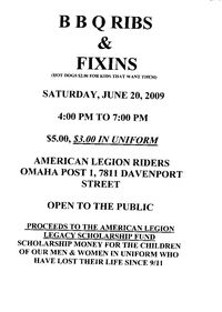 Omaha Post 1 American Legion Riders Bar B Q