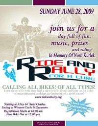 Ride And Rally For A Cure